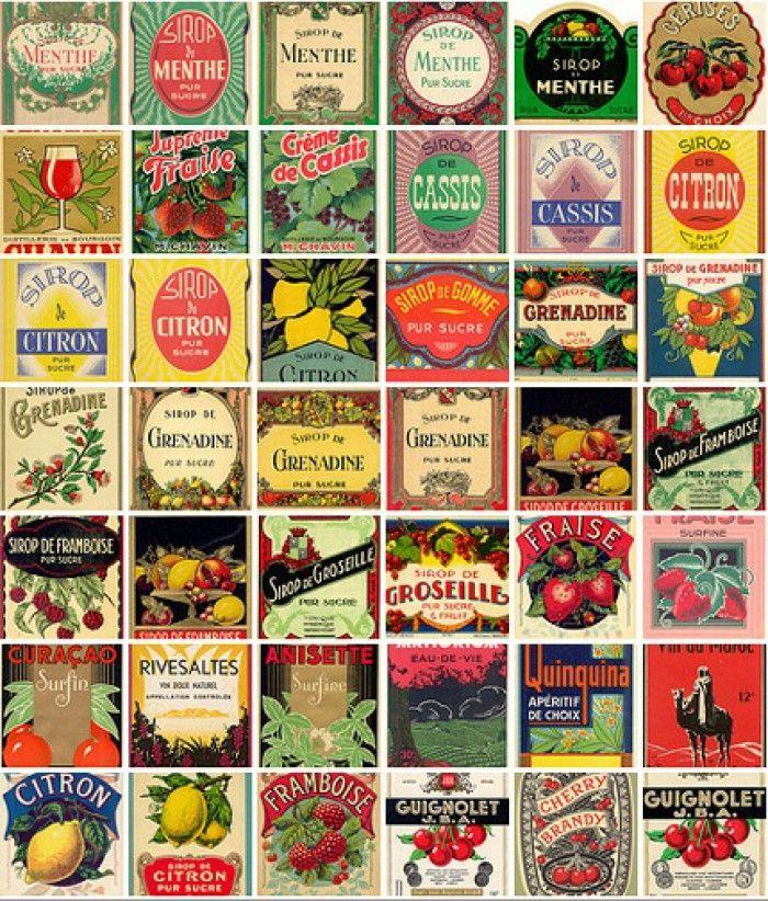 Leuke vintage labels om gratis uit te printen. Misschien leuk om een keer iets mee te doen.