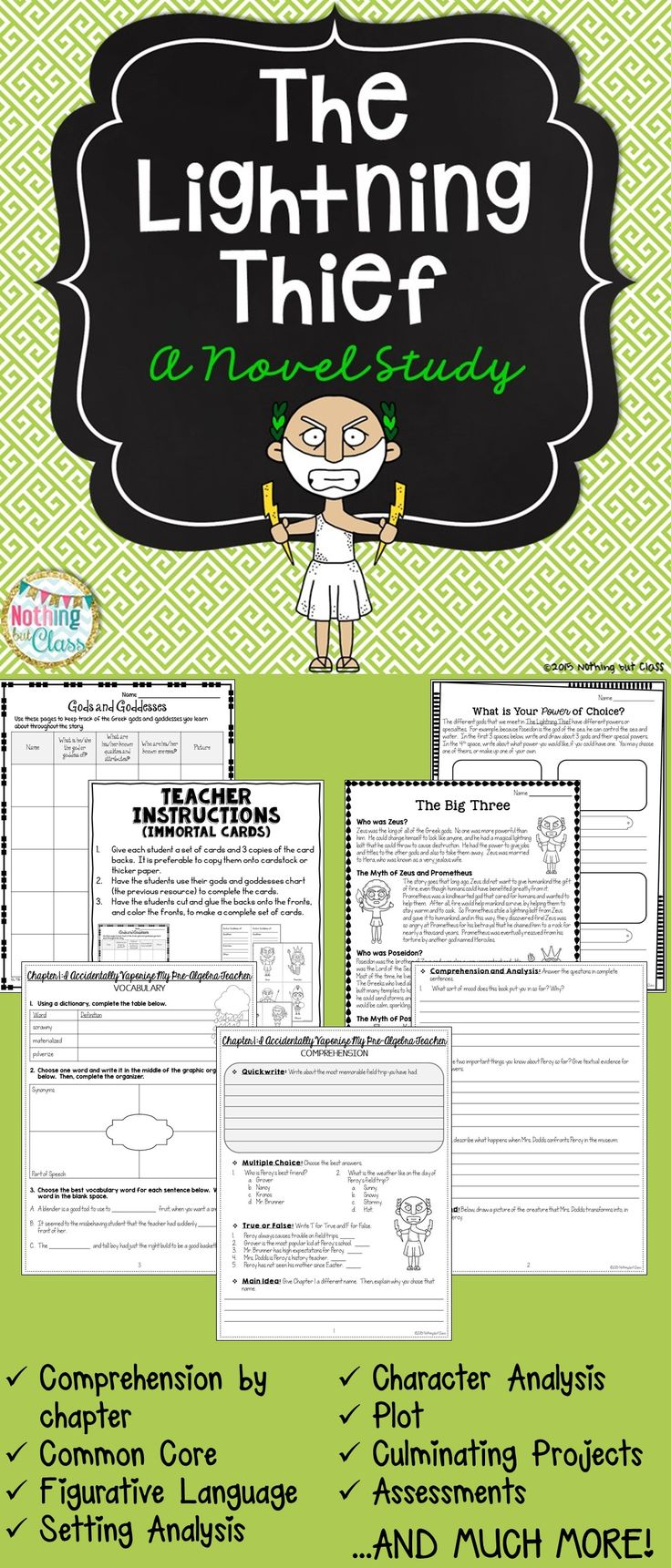 Workbooks percy jackson and the lightning thief worksheets : 16 best images about Percy Jackson on Pinterest