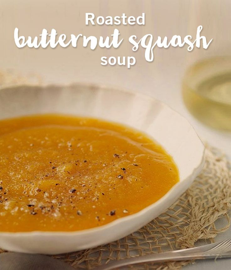The perfect taste of fall! Start your meal off right with this roasted butternut squash soup.