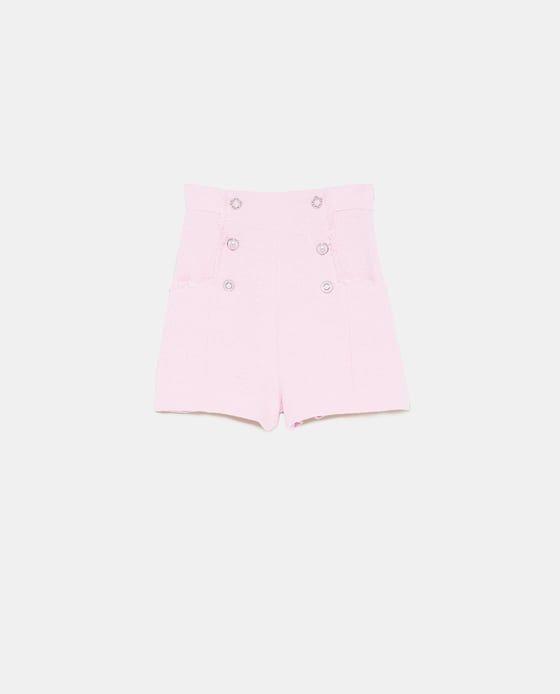 babbe31a3b VESTE EN TWEED À BOUTON - BLAZERS-FEMME   ZARA Belgique   Casual style in  2019   Tweed shorts, Tweed, Shorts