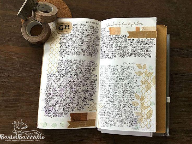 Midori Traveler's Notebook, TNB, Journal, Organizer, Diary, Stampin Up, SU, Berlin, Vintage, Vintagestyle, stempeln, stanzen, staunen, summer silhouettes