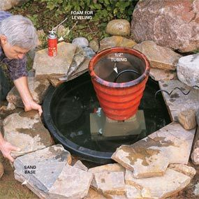 How to Build a Pond & Fountain in One Day - Step by Step | The Family Handyman