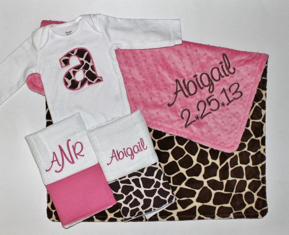 The 25 best baby girl strollers ideas on pinterest baby gift sent to lilyana personalized double minky giraffe baby girl stroller blanket plus 2 personalized negle Choice Image