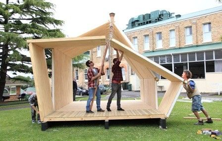 Folding Whare Portable Disaster Relief Shelter Or Build