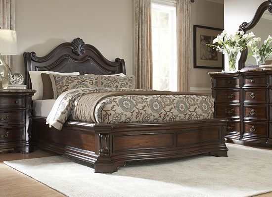 Villa Sonoma King Platform Bed Dark Havertys Furniture For The Home P