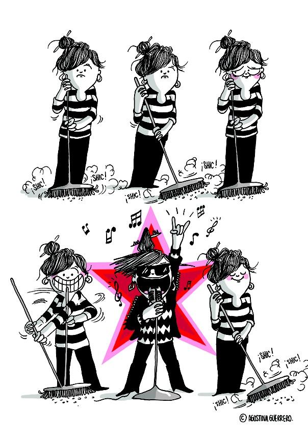 agustina guerrero · illustration: Diario de una volátil ·star·