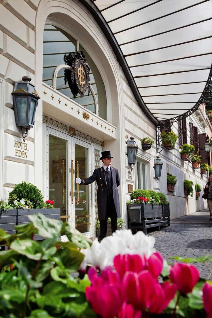 L'hotel Eden, un vero paradiso nel cuore di Roma, a due passi da via Veneto.