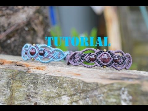 Tutorial de brazalete en macrame FACIL - YouTube