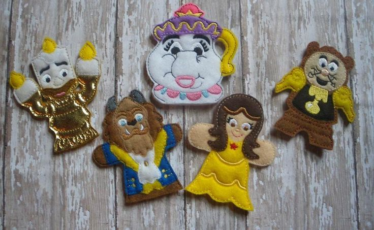 BEAUTY AND THE BEAST FINGER PUPPET SET PATTERNS – OFNAH