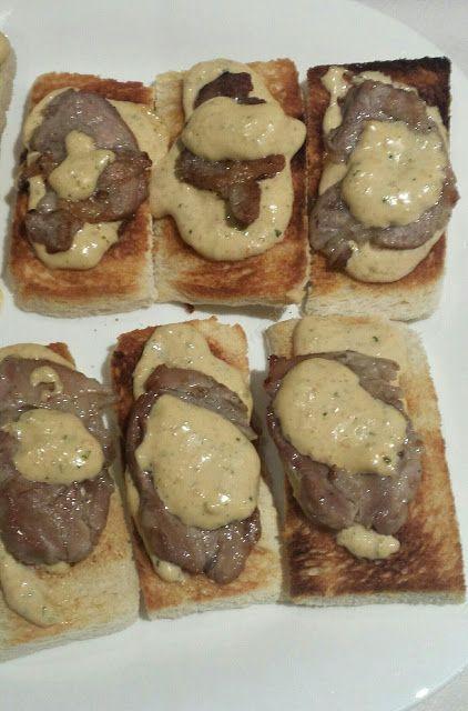 Cocina Basica y Fresca: BOCADITOS DE SOLOMILLO CON SALSA CBF@