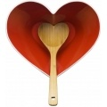 Sagaform Heart Bowl with Wooden Spoon