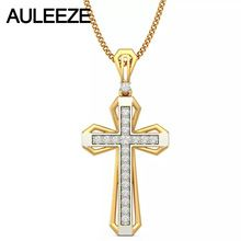 Class Cross Natural Diamond Pendant 14K Two Tone Gold Pendants For Men Yellow Gold White Gold Necklace Christian Jewelry Gift //Price: $US $522.00 & FREE Shipping //     #hashtag2