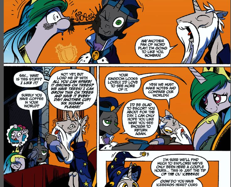 princess celestia and king sombra comic - Google Search ...