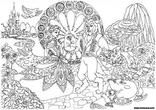 dessin princesse la belle et la bte gratuit