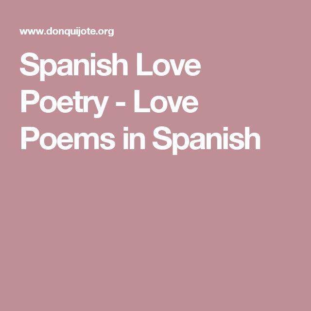 Spanish Love Poetry - Love Poems in Spanish
