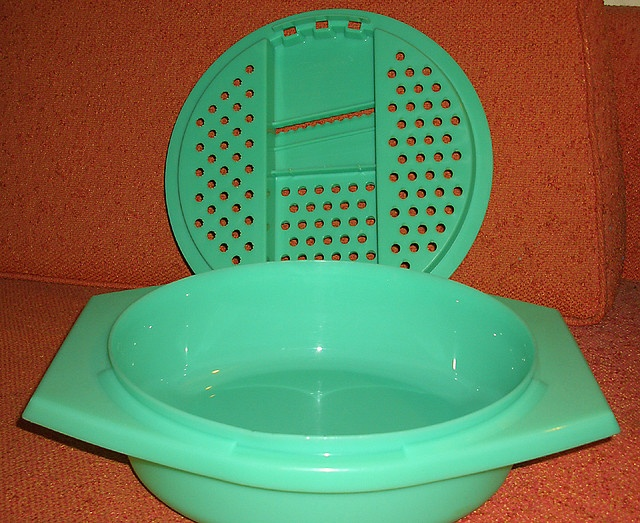 green tupperware grater bowl by moddities, via Flickr. Lol my mom had one of these back in the day.