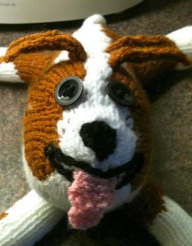 Knitted Staffie. Want to try it out yourself? Get the ...