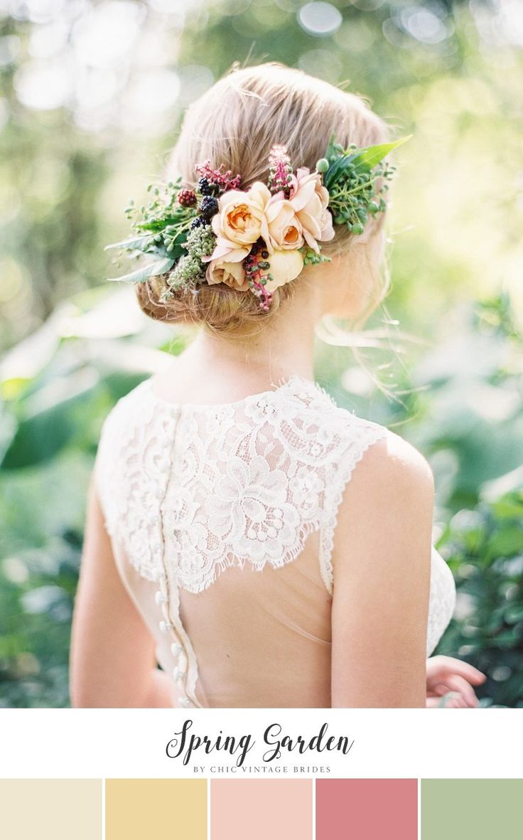 Spring Garden - Peach & Greenery Wedding Color Palette