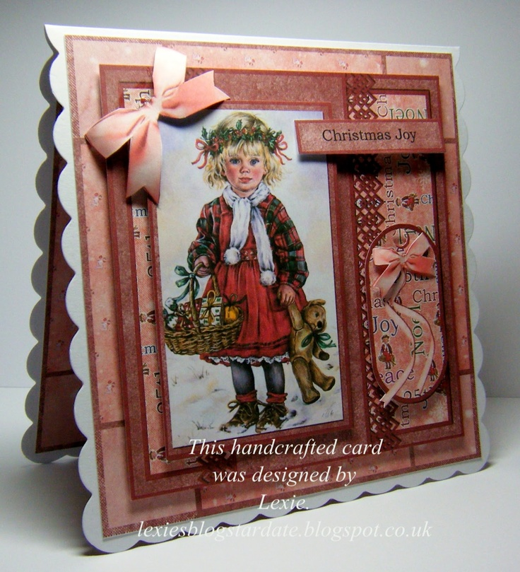 Lexie's Cards: Christmas Paintbox Poppets Card.