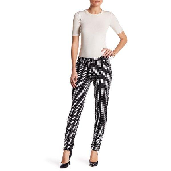 Amanda & Chelsea Check Print Pant (Petite) ($29) ❤ liked on Polyvore featuring pants, petite, petite pants, checkerboard pants, patterned trousers, amanda chelsea pants and petite trousers