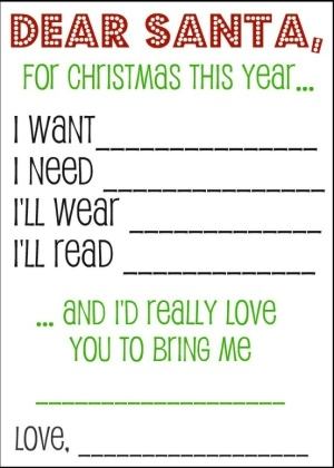 Love this! Just to keep things from getting out of control...Christmas Wish List