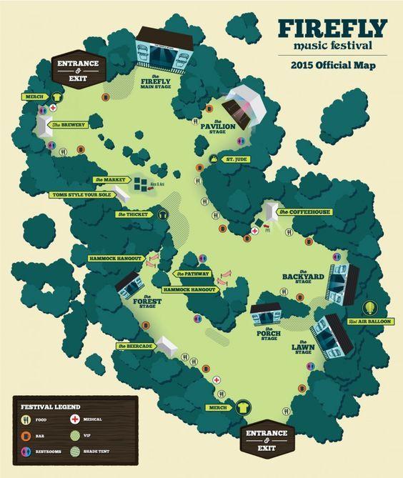 Festival Maps | Firefly Music Festival: