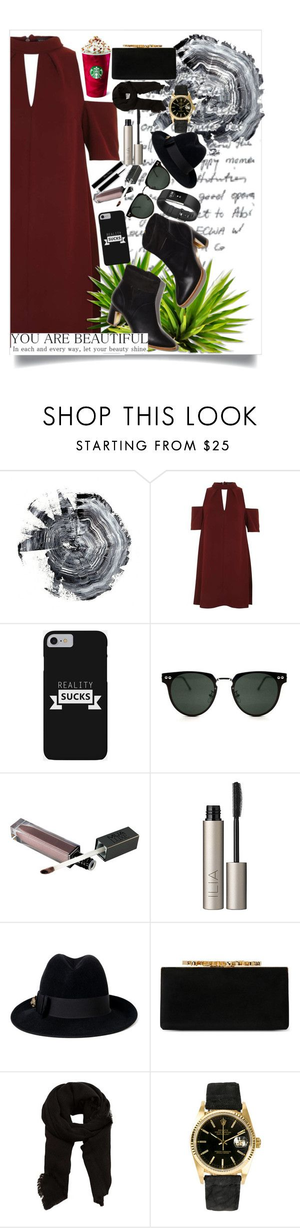 """You are beatiful"" by marii-96-1 ❤ liked on Polyvore featuring Topshop, Spitfire, Fitbit, Ilia, Gucci, Jimmy Choo, MANGO and Rolex"