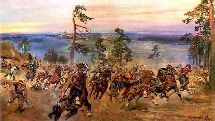 Jerzy Kossak - Bitwa pod Komarowem