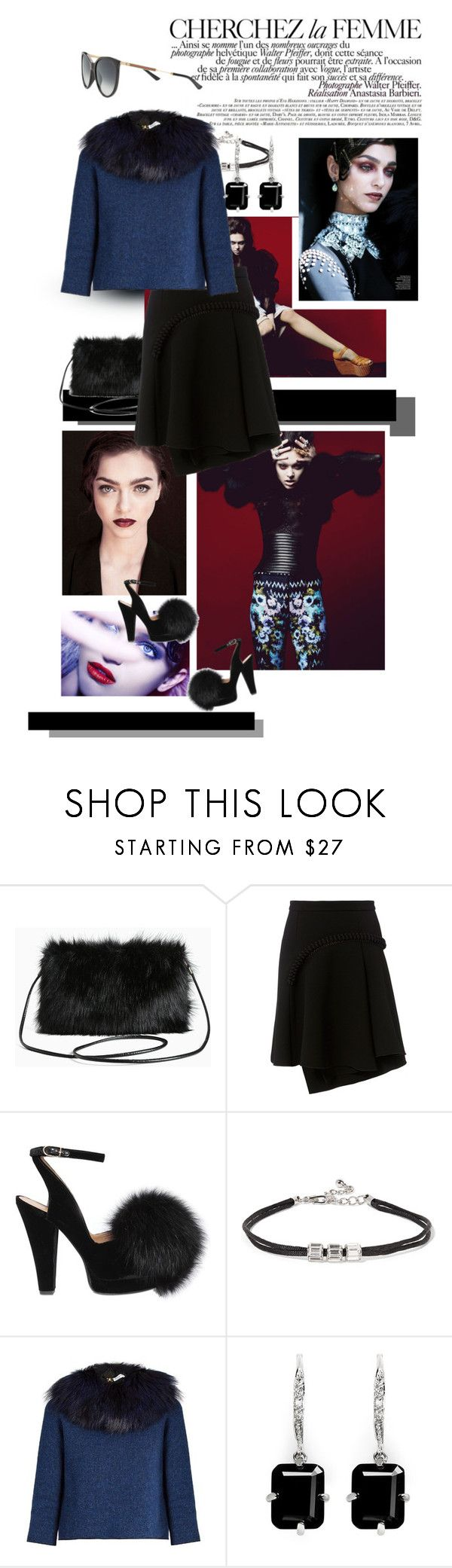 """La Femme"" by mathilda-moo ❤ liked on Polyvore featuring Torrid, La Femme, Carven, Sonia Rykiel, Kenneth Jay Lane, CZ by Kenneth Jay Lane, Gucci, fur, fuzzycoat and Winter2016"