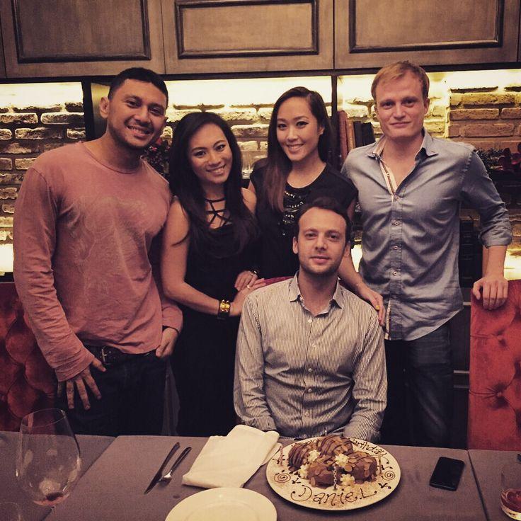 Little reunion dinner @Valentino_Jkt last night... Little suprise for @d_evens