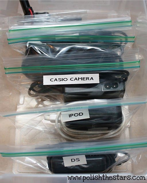 Great for travelling... or just organising the collection of cables in the drawer!