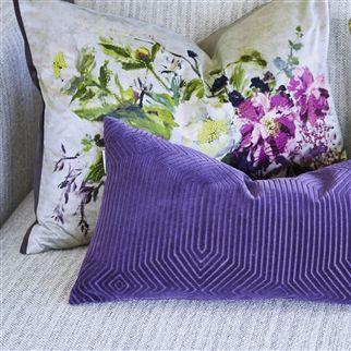 Aubriet Amethyst Cushion | Designers Guild