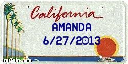 Another license plate generator where you can add dates - would be good for a birthday board