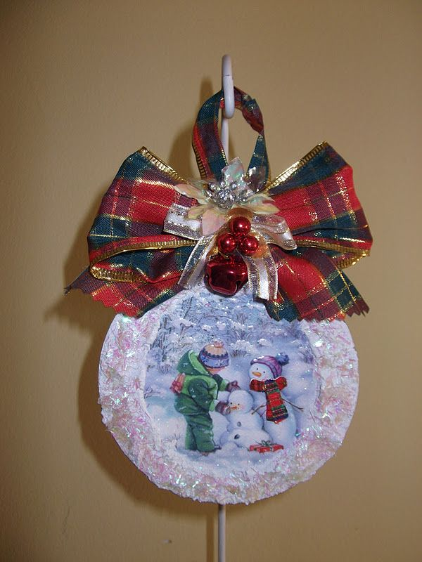 28 best trabajos con cd images on pinterest christmas - Manualidades con cd usados ...