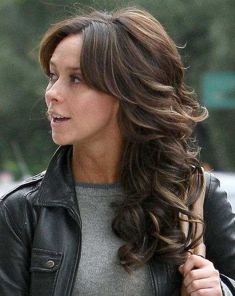 Actress Jennifer Love Hewitt went to the Dry Bar to get her hair done in Studio City, CA. Jennifer was showing off her curly hair and her furry boots.