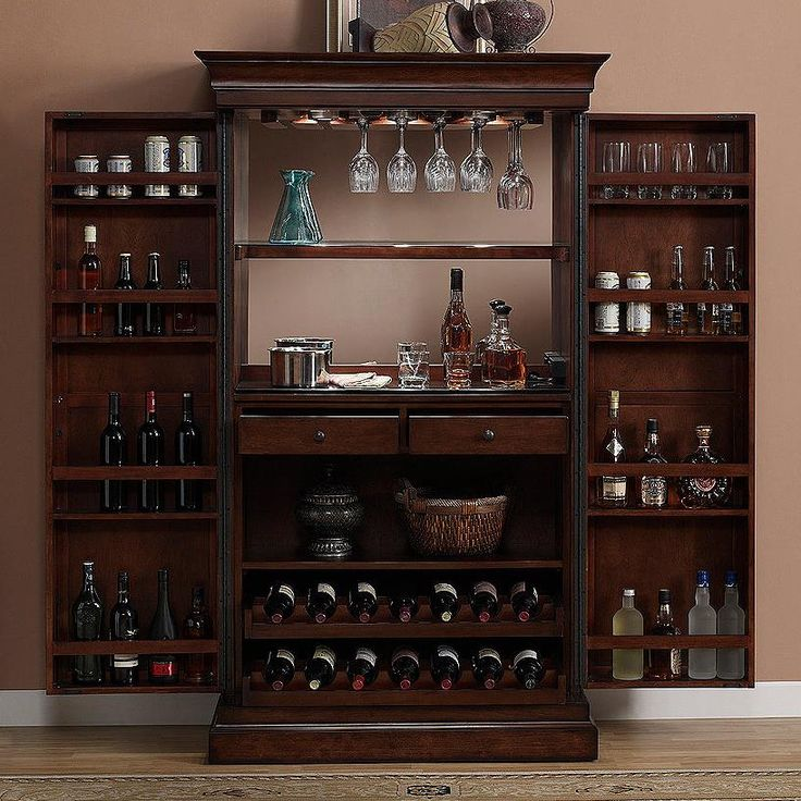 angelina armoire bar cabinet with mirror back by american heritage billiards