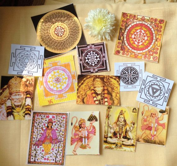 13 Yantras & Hindu Deva Stickers  - 3 days left to order in time for xmas delivery <3 shop for good karma supports my work in rural india.
