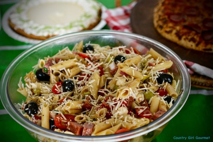 Easy Antipasto Pasta Salad and the Big Game! * My Hot Southern Mess