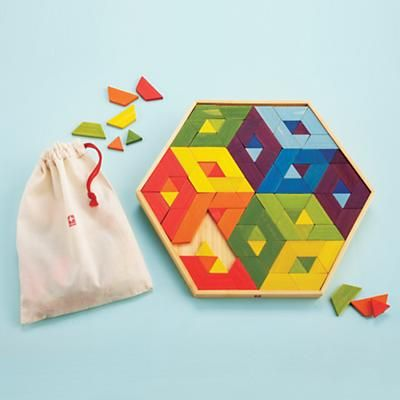 Mosaic puzzle teaches shapes, basic geometry and helps develop visual thinking and color recognition.