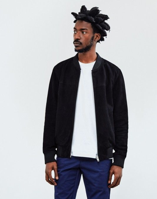 The Idle Man Suede Bomber Jacket Black   Shop now at The Idle Man   #StyleMadeEasy