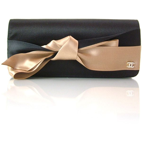 CHANEL Silk Satin Bow Clutch: bd19051 Fashionphile - Buy, Sell, Consign Authentic Authentic Louis Vuitton, Chanel, Balenciaga found on Polyvore
