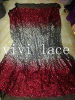 5 ярды YY076 # серебряная карта красный вышивки черный сетка кружевной ткани для / вечернее платье / ну вечеринку, DHL