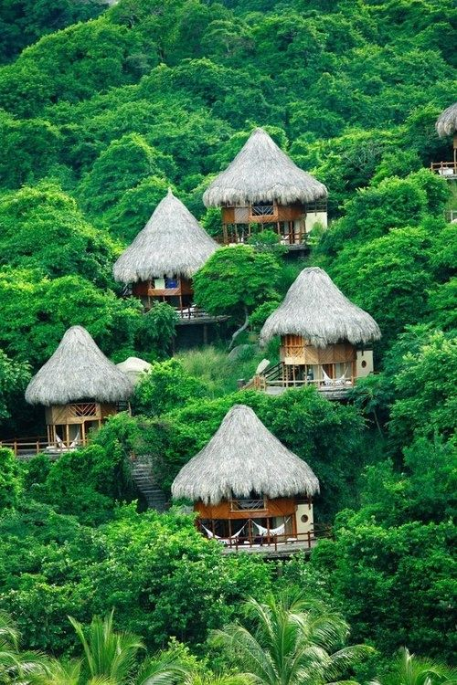 Thatched Roofs, Sierra Nevada de Santa Marta, Colombia...a resort, no doubt