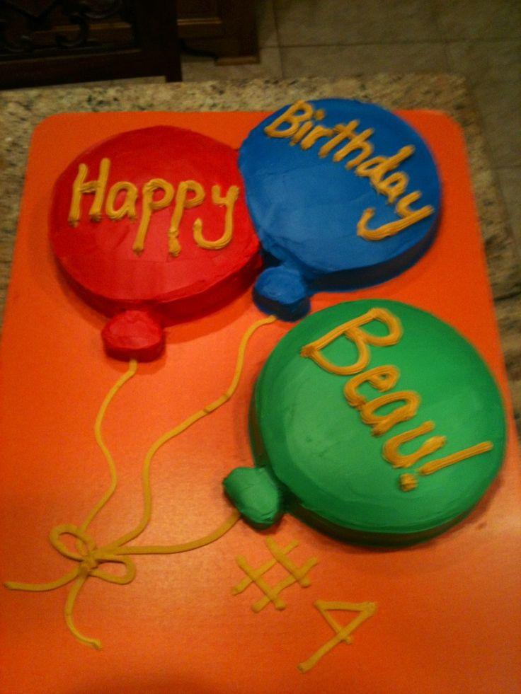 Balloon birthday cake