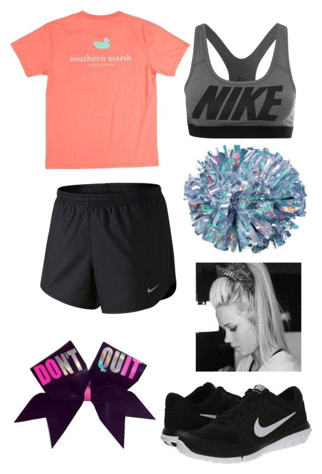 """""""Cheer Practice"""" by lydiras ❤ liked on Polyvore"""