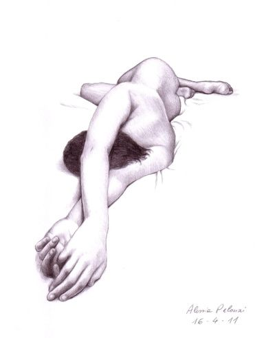 Nude Art : Figures of nude women and bodies of naked girls in pencil drawings, figure sketches and paintings