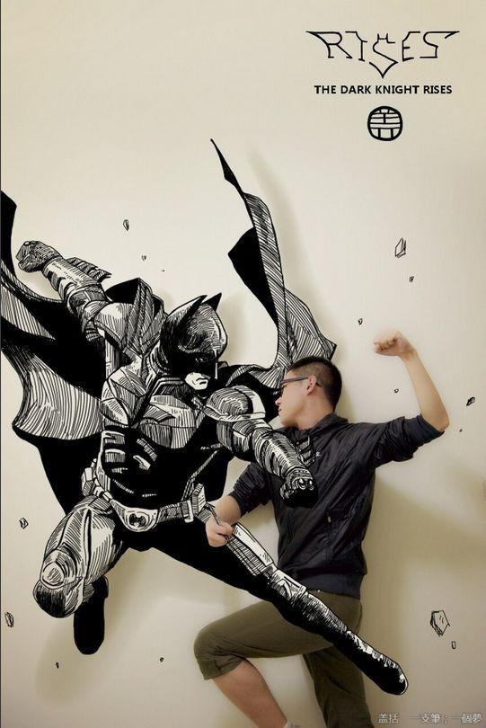 Un étudiant chinois, Gaikuo-Captain, se superpose à l'intérieur d'illustrations de manga, comics et autres dessins animés. http://www.crunchyroll.com/anime-news/2013/03/20-1/chinese-manga-fan-creates-striking-perspective-art-where-hes-the-star