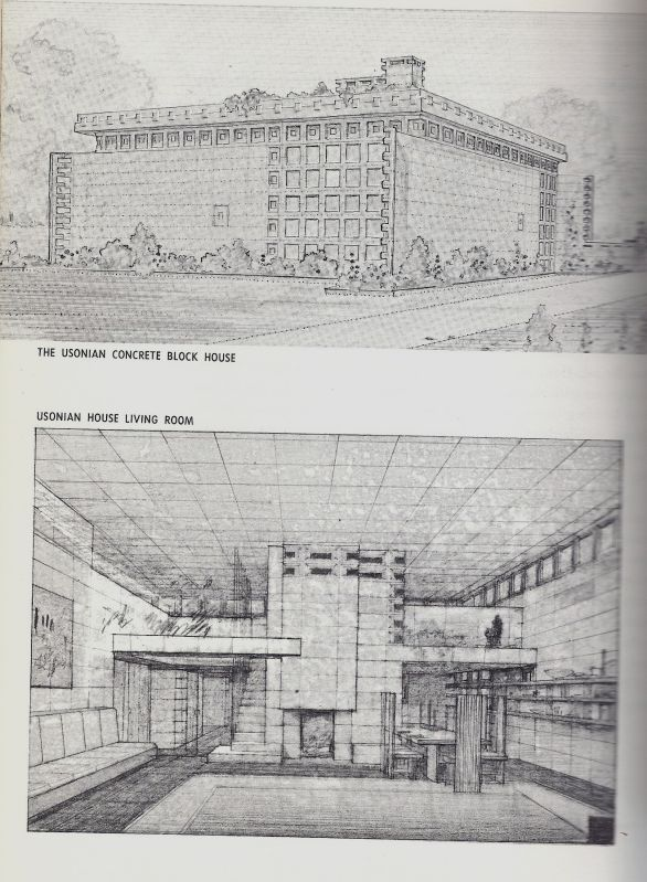 Frank Lloyd Wright Interior Drawings Recommended By Iggy
