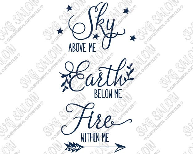 Sky Below Tattoo Above Within Earth Fire