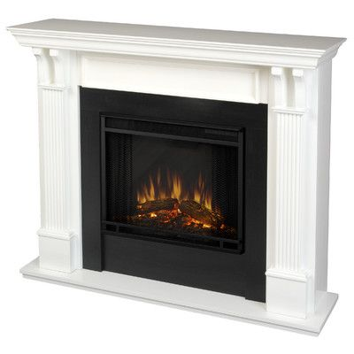 Ashley Indoor Gel Electric Fireplace in White